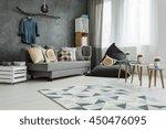 new apartment interior in grey... | Shutterstock . vector #450476095