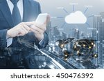 double exposure of professional ... | Shutterstock . vector #450476392