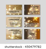 business card collection.... | Shutterstock .eps vector #450479782