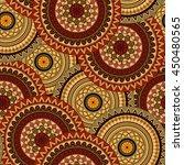 hand drawn mandala ethnic... | Shutterstock .eps vector #450480565