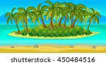 island game landscape  vector...