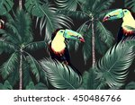 toucan  exotic birds  jungle ... | Shutterstock .eps vector #450486766