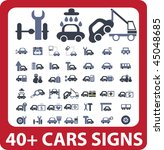 40  cars signs. vector | Shutterstock .eps vector #45048685