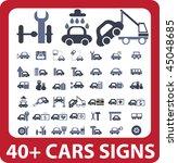 40  cars signs. vector | Shutterstock .eps vector #45048685