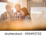 graphic designer using digital... | Shutterstock . vector #450493732