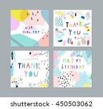 thank you  happy birthday ... | Shutterstock .eps vector #450503062