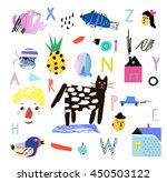 cute collection of different... | Shutterstock .eps vector #450503122