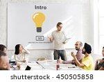 intro launch start create... | Shutterstock . vector #450505858