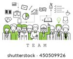 business people team on white... | Shutterstock .eps vector #450509926