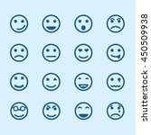 set of smiley icons with... | Shutterstock .eps vector #450509938