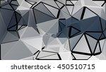 randomly scattered triangles of ... | Shutterstock .eps vector #450510715