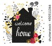 welcome home vector...   Shutterstock .eps vector #450511366