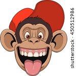 vector illustration chimpanzee... | Shutterstock .eps vector #450512986