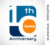 10 th years anniversary with... | Shutterstock .eps vector #450516946