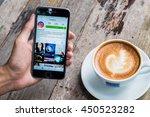 chiang mai  thailand   jul 7... | Shutterstock . vector #450523282