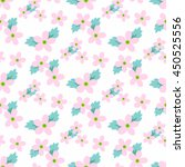 sweet vector pattern with small ... | Shutterstock .eps vector #450525556