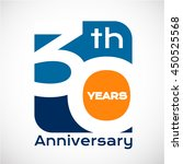 30 th years anniversary with... | Shutterstock .eps vector #450525568