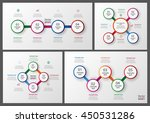 set of colorful infographics... | Shutterstock .eps vector #450531286
