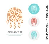 dream catcher illustration.... | Shutterstock .eps vector #450531682