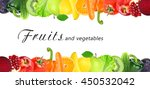 fruits and vegetables. healthy... | Shutterstock . vector #450532042