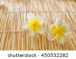 Two Frangipani Flower On Bambo...