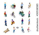 isometric people icons set... | Shutterstock .eps vector #450538585