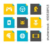 vector flat icons set   game | Shutterstock .eps vector #450538915