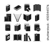 books vector icons. literature... | Shutterstock .eps vector #450544576