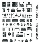 home furniture vector icons.... | Shutterstock .eps vector #450544582