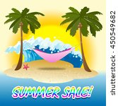 summer sale indicating warmth... | Shutterstock . vector #450549682