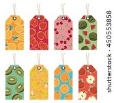 set of isolated fruit gift tags ...   Shutterstock .eps vector #450553858