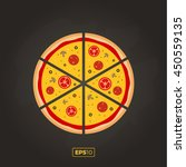 pizza flat icons isolated on... | Shutterstock .eps vector #450559135