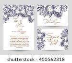 romantic invitation. wedding ...   Shutterstock . vector #450562318