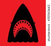 shark with open mouth and sharp ... | Shutterstock .eps vector #450563662