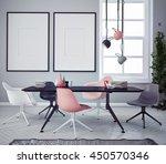 mock up poster with vintage...   Shutterstock . vector #450570346