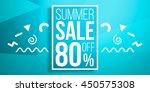 summer sale background in retro ... | Shutterstock . vector #450575308
