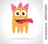 cute monster. cartoon... | Shutterstock .eps vector #450575665