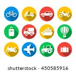 flat icon set of travel and... | Shutterstock .eps vector #450585916