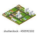 3d isometric city landscape of... | Shutterstock .eps vector #450592102