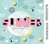 vector summer poster. abstract... | Shutterstock .eps vector #450593278