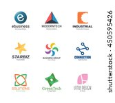 abstract logo icons design ... | Shutterstock .eps vector #450595426