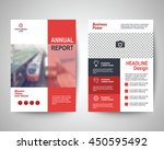 red abstract flyer layout... | Shutterstock .eps vector #450595492