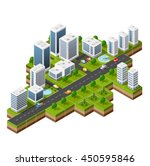 isometric 3d cityscape view of... | Shutterstock .eps vector #450595846