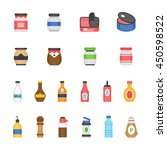 color icon set   ketchup | Shutterstock .eps vector #450598522