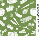 fresh vegetables hand drawn... | Shutterstock .eps vector #450600892