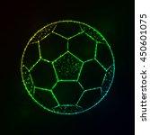 soccer ball illustration icon ... | Shutterstock .eps vector #450601075