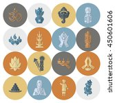diwali. indian festival icons.... | Shutterstock .eps vector #450601606