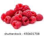 Ripe Raspberries Isolated On...