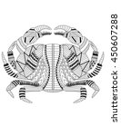 crab coloring page | Shutterstock .eps vector #450607288