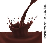 realistic chocolate splash on... | Shutterstock .eps vector #450607486